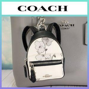 COACH Mini Backpack Keychain Bag Charm